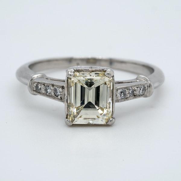 Platinum 1.19ct Diamond Solitaire Engagement Ring - image 1