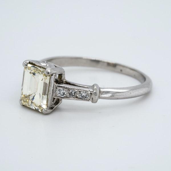 Platinum 1.19ct Diamond Solitaire Engagement Ring - image 3