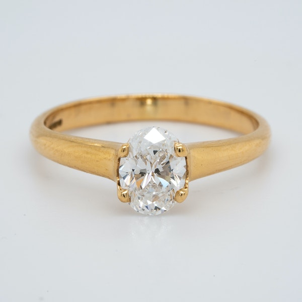 18K yellow gold 1.00ct Diamond Solitaire Engagement Ring - image 1