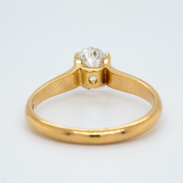 18K yellow gold 1.00ct Diamond Solitaire Engagement Ring - image 4