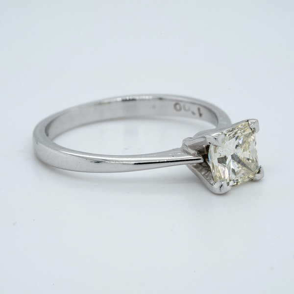 18K white gold 1.01ct Diamond Solitaire Engagement Ring - image 2