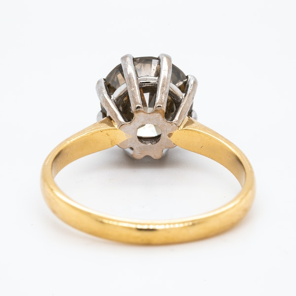 18K yellow gold 3.60ct Fancy Dark Brown Diamond Engagement Ring - image 4