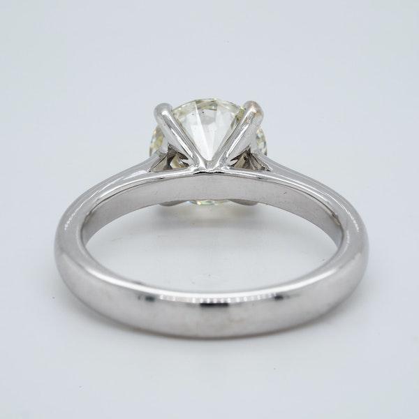 Platinum 1.85ct Diamond Solitaire Engagement Ring - image 4