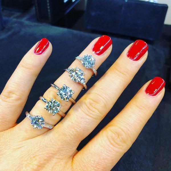 Platinum 1.85ct Diamond Solitaire Engagement Ring - image 5