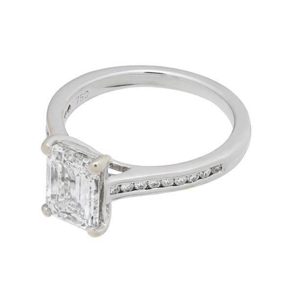 Platinum 2.01ct Diamond Engagement Ring - image 1
