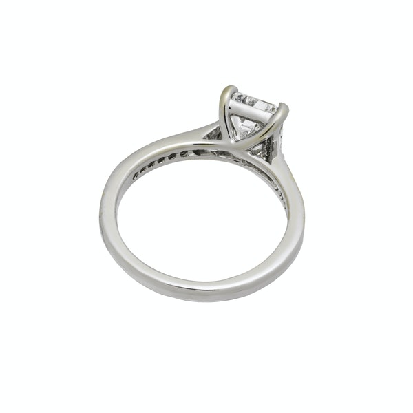 Platinum 2.01ct Diamond Engagement Ring - image 2