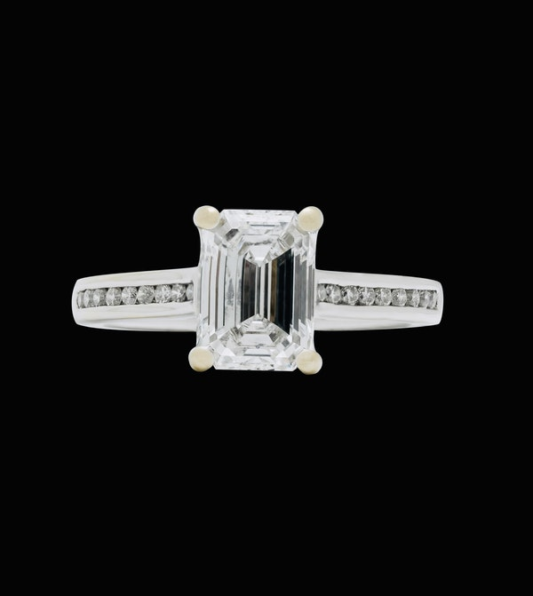 Platinum 2.01ct Diamond Engagement Ring - image 4