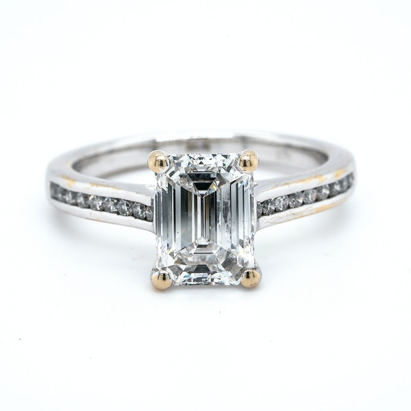 Platinum 2.01ct Diamond Engagement Ring - image 5