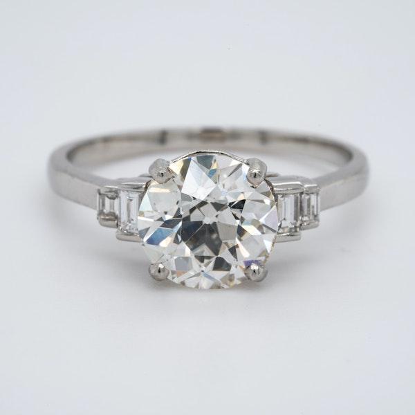 Platinum 2.32ct Diamond Engagement Ring - image 1