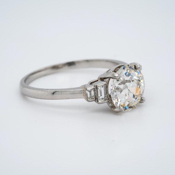 Platinum 2.32ct Diamond Engagement Ring - image 2