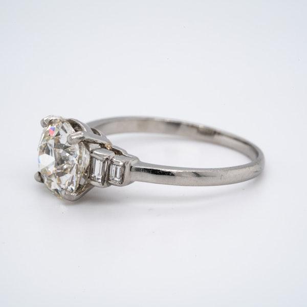 Platinum 2.32ct Diamond Engagement Ring - image 3