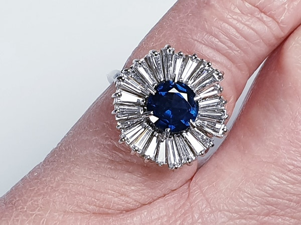 Sapphire and Diamond Ballerina Ring  DBGEMS - image 1