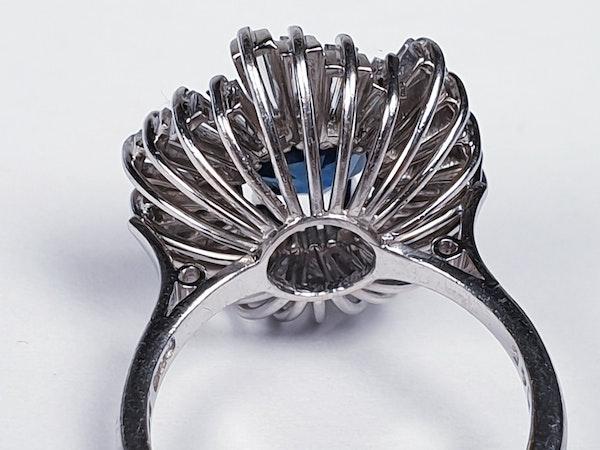 Sapphire and Diamond Ballerina Ring  DBGEMS - image 4
