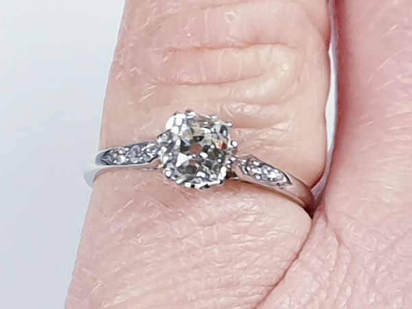 1ct Art Deco Diamond Engagement Ring  DBGEMS - image 4