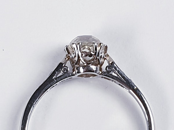 1ct Art Deco Diamond Engagement Ring  DBGEMS - image 2