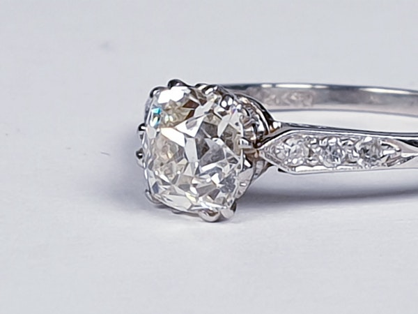 1ct Art Deco Diamond Engagement Ring  DBGEMS - image 1