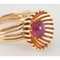 Vintage Hans Mautner 18 Carat Gold & Cabochon Ruby, London dated1954. - image 4