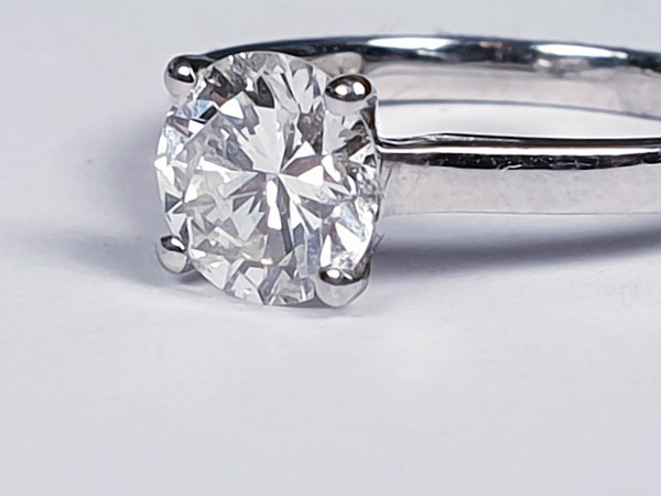1.22ct modern brilliant cut diamond engagement ring  DBGEMS - image 1