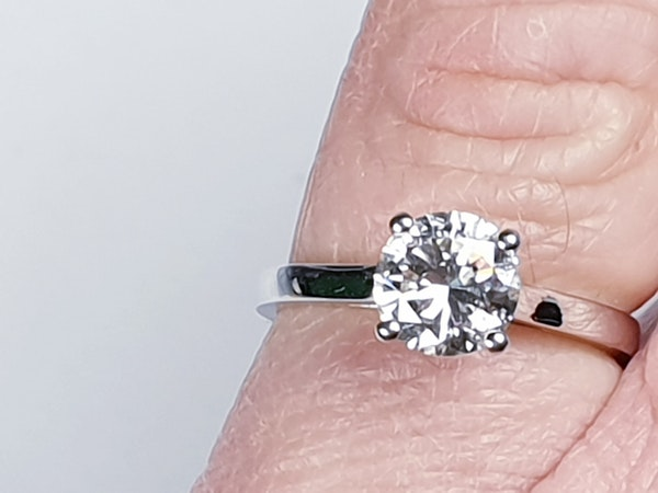 1.22ct modern brilliant cut diamond engagement ring  DBGEMS - image 4