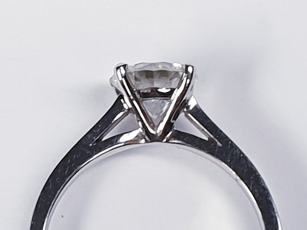 1.22ct modern brilliant cut diamond engagement ring  DBGEMS - image 2