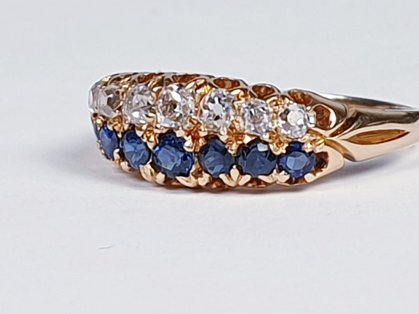 Two row Sapphire and diamond ring stack  DBGEMS - image 4