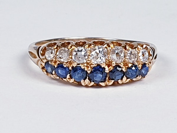 Two row Sapphire and diamond ring stack  DBGEMS - image 3