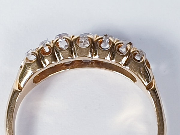 Two row Sapphire and diamond ring stack  DBGEMS - image 1