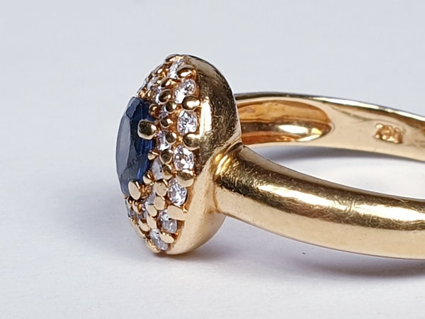 Victorian Sapphire and Diamond Cluster Ring  DBGEMS - image 2