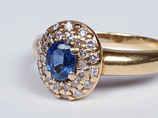 Victorian Sapphire and Diamond Cluster Ring  DBGEMS - image 3