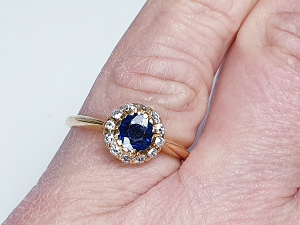 Edwardian Sapphire and Diamond Ring  DBGEMS - image 5
