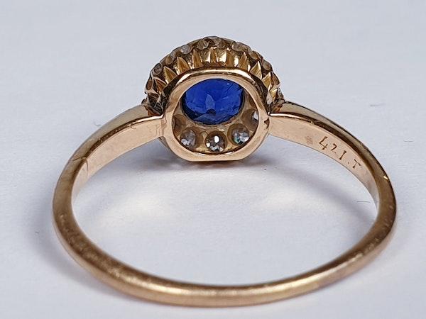 Edwardian Sapphire and Diamond Ring  DBGEMS - image 3