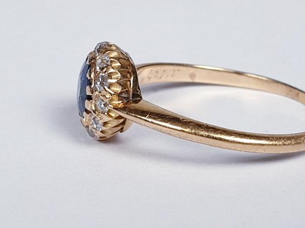 Edwardian Sapphire and Diamond Ring  DBGEMS - image 1