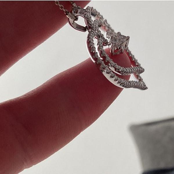 1980's, 18ct White Gold and Diamond stone set Pendant, SHAPIRO & Co since1979 - image 3