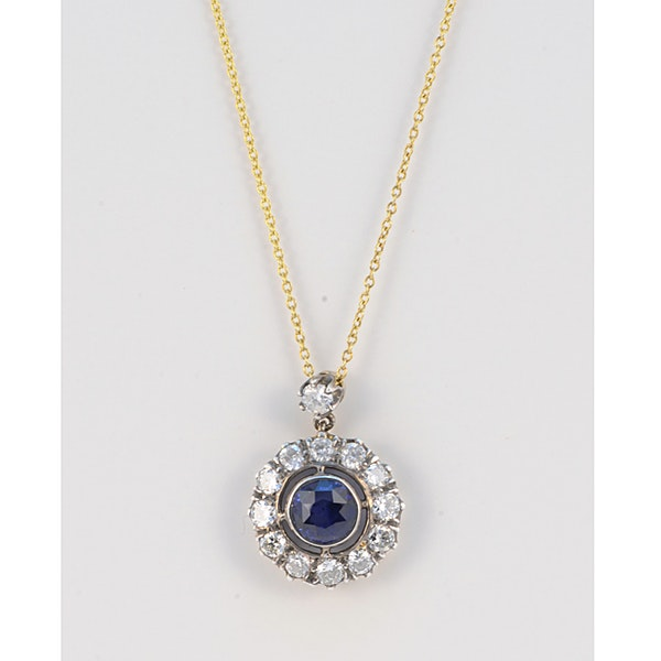 Date circa 1910, 18ct Yellow/White Gold, Sapphire and Diamond stone set Ring, SHAPIRO & Co since1979 - image 1