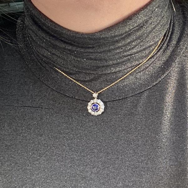 Date circa 1910, 18ct Yellow/White Gold, Sapphire and Diamond stone set Ring, SHAPIRO & Co since1979 - image 2