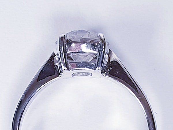 1.03ct Old European Cut Diamond Engagement Ring  DBGEMS - image 2
