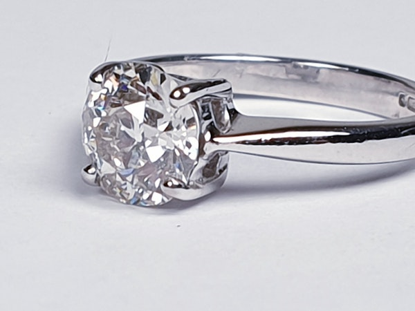1.03ct Old European Cut Diamond Engagement Ring  DBGEMS - image 1