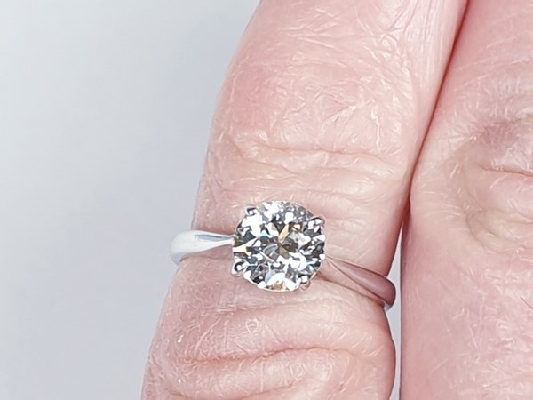 1.03ct Old European Cut Diamond Engagement Ring  DBGEMS - image 3