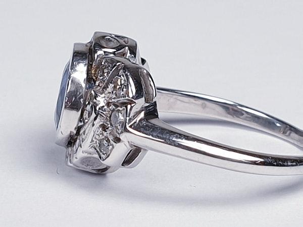 Art Deco Ceylon Sapphire and Diamond Engagement Ring  DBGEMS - image 3