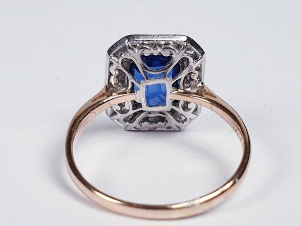 Edwardian sapphire and diamond engagement ring  DBGEMS - image 5
