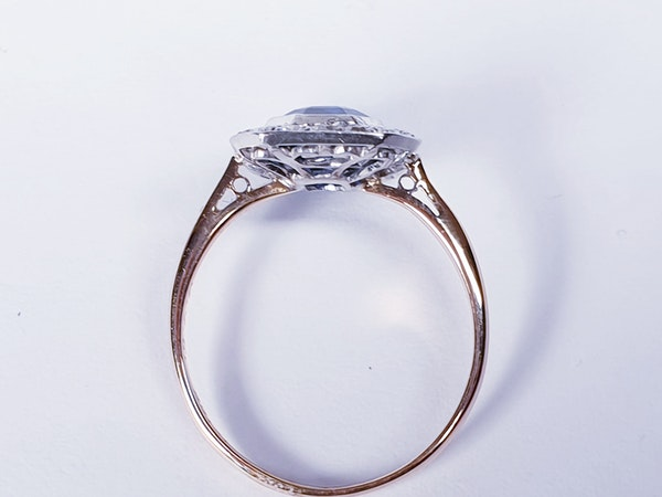 Edwardian sapphire and diamond engagement ring  DBGEMS - image 1