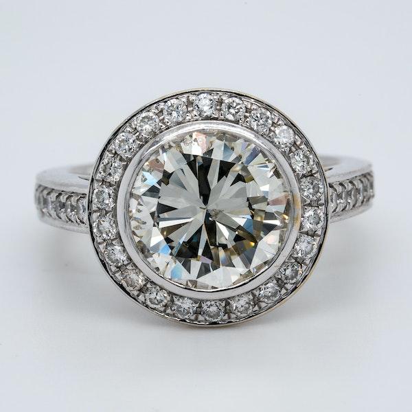 18K white gold 3.32ct (+1.01ct) Diamond Engagement Ring - image 1