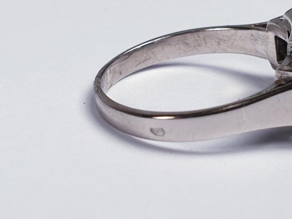 French art deco diamond engagement ring  DBGEMS - image 4