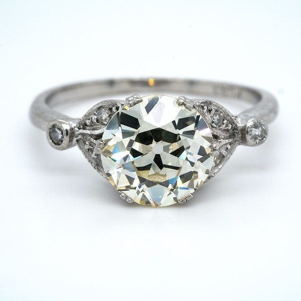 Platinum 2.63ct Diamond Engagement Ring - image 1