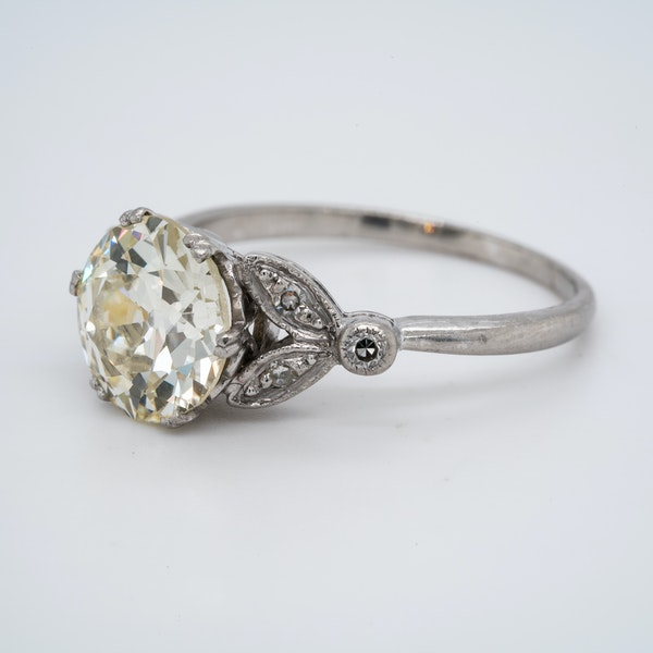 Platinum 2.63ct Diamond Engagement Ring - image 2