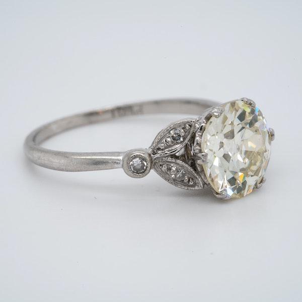 Platinum 2.63ct Diamond Engagement Ring - image 3