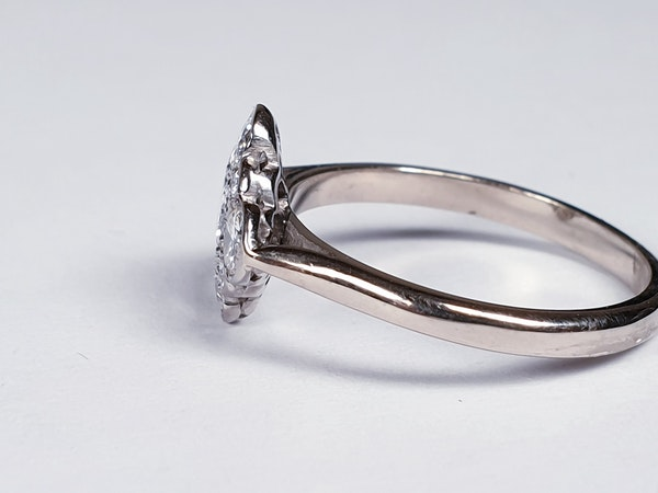 Art Deco Quatrafoil Diamond Engagement Ring  DBGEMS - image 2