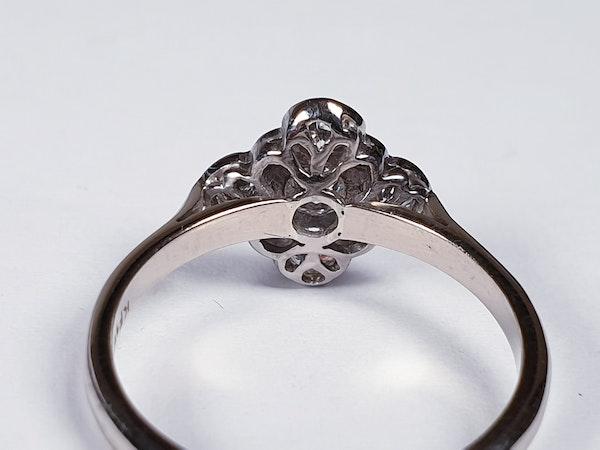 Art Deco Quatrafoil Diamond Engagement Ring  DBGEMS - image 4
