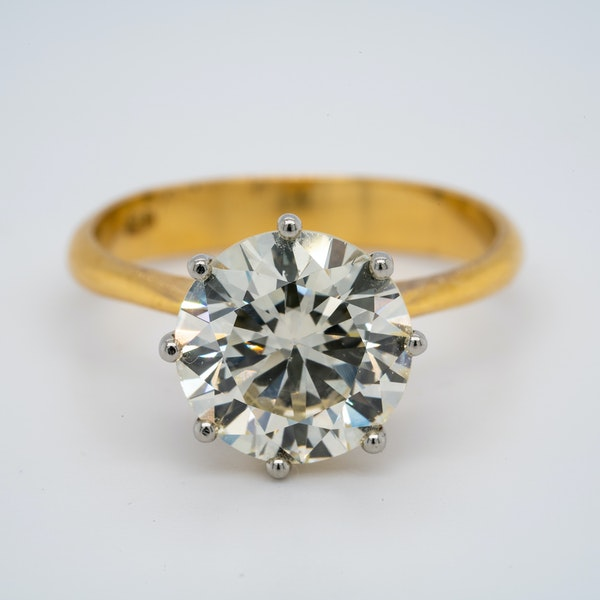 18K yellow gold 3.44ct Diamond Engagement Ring - image 1