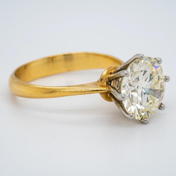 18K yellow gold 3.44ct Diamond Engagement Ring - image 2